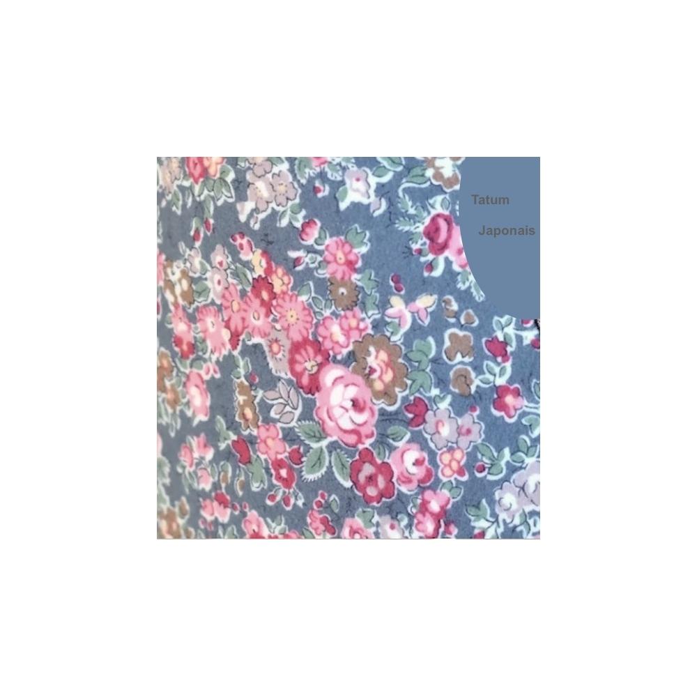 Tissu liberty fabrics tana lawn coton batiste fine Liberty tatum Japonais gris multicolore