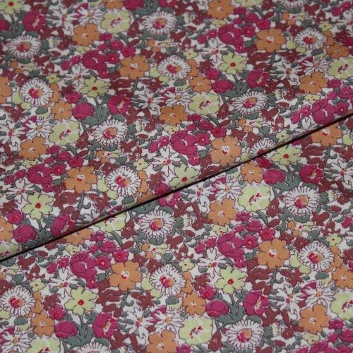 Tissu liberty fabrics tana lawn coton batiste fine Liberty Delilah Cavendish exclusif