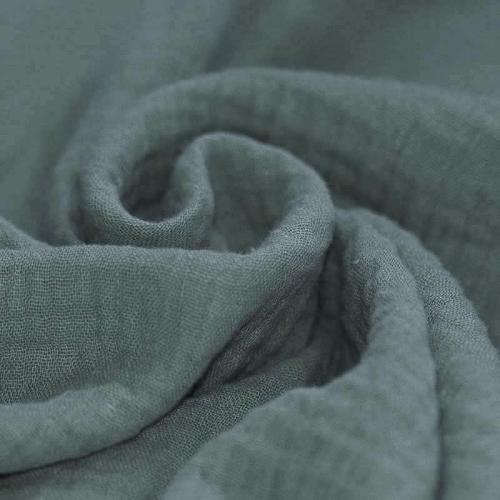 Double gaze de coton vert