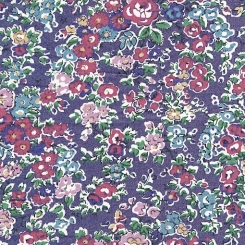 Liberty Tatum prune coloris F super joli fleuri Tissu liberty pas cher à la coupe au metre