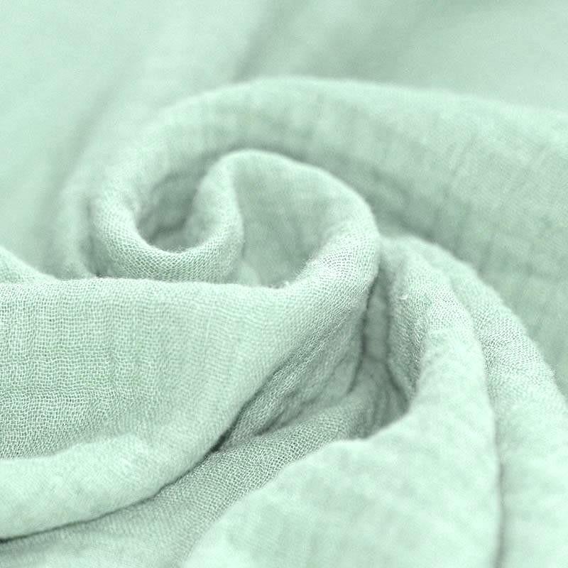 Tissus coton tissus uni Double gaze de coton menthe givrée / mint