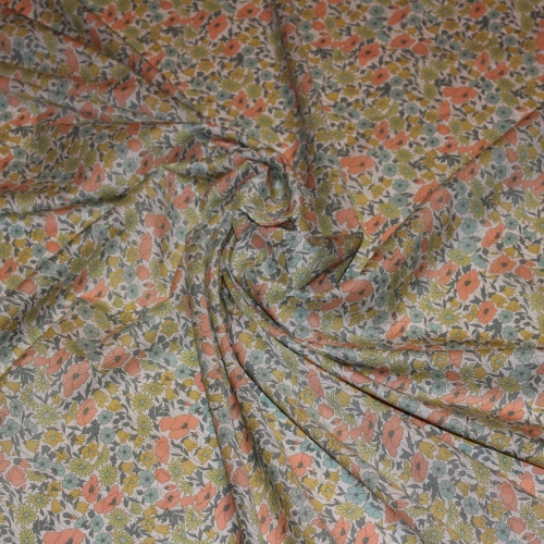 Liberty Poppy and Daisy vintage H Tissus liberty fabrics au metre à la coupe 4095H