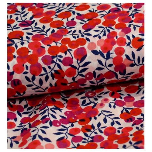Liberty Wiltshire rouge S Tissus liberty fabrics au metre à la coupe