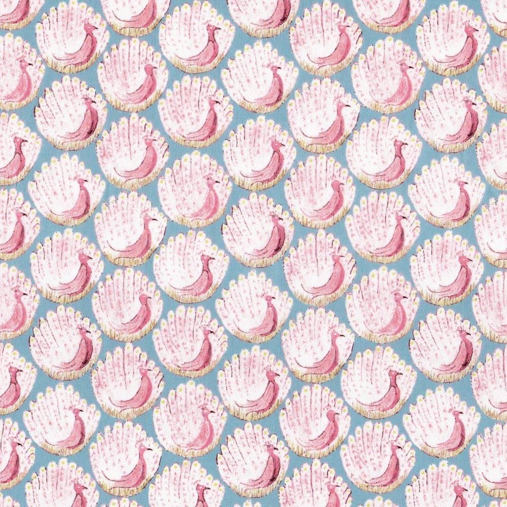 Liberty Peacocks of Grantham celadon-corail C Tissus liberty fabrics au metre à la coupe