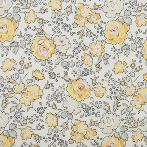 Liberty londre tana lawn Tissu liberty pas cher à la coupe au metre Liberty japonais Felicite ton poudrés jaune
