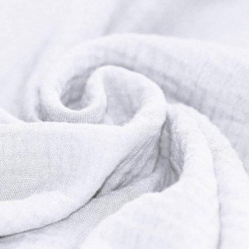Double gaze de coton blanc