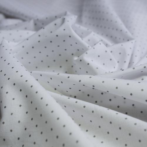 Tissu coton imprimé fleuris Mint