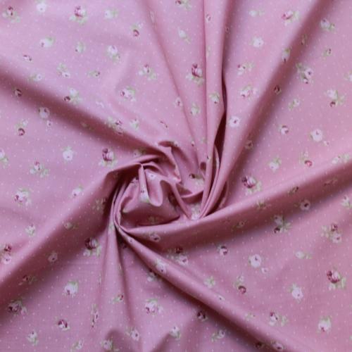 Tissu batiste de coton fond bleu imprimé petits papillons