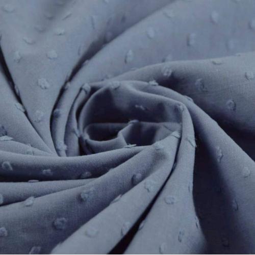 Plumetis de coton coloris bleu jean clair