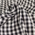 Tissu popeline de coton carreaux noir et blanc