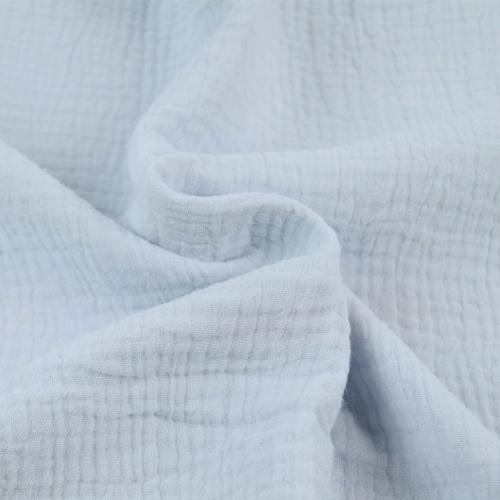 Double gaze de coton bleu glacier