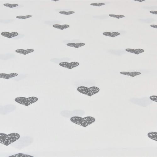 Popeline de coton fond figue givrée imprimé noeuds blanc
