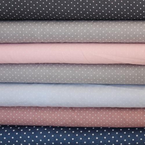 Popeline de coton rayée vieux rose et blanc