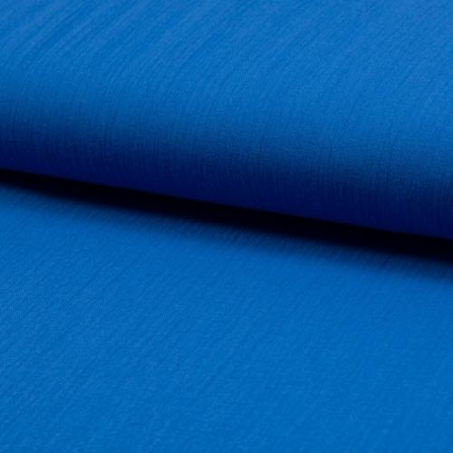 Gaze de coton uni coloris bleu roi