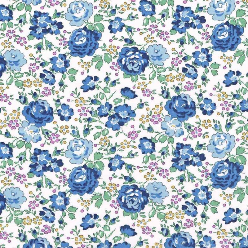 Liberty Felicite bleu C 8024c Tissus liberty fabrics au metre à la coupe
