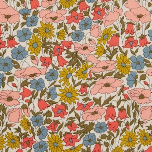 Liberty Poppy and daisy nouveau coloris A