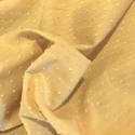 Plumetis de coton coloris moutarde