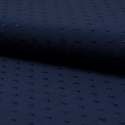 Tissu plumetis viscose bleu marine
