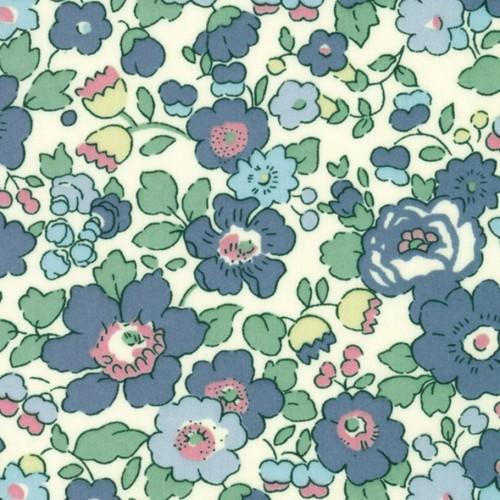 Betsy M jean/vert tissus liberty fabric à la coupe au mètre 2019