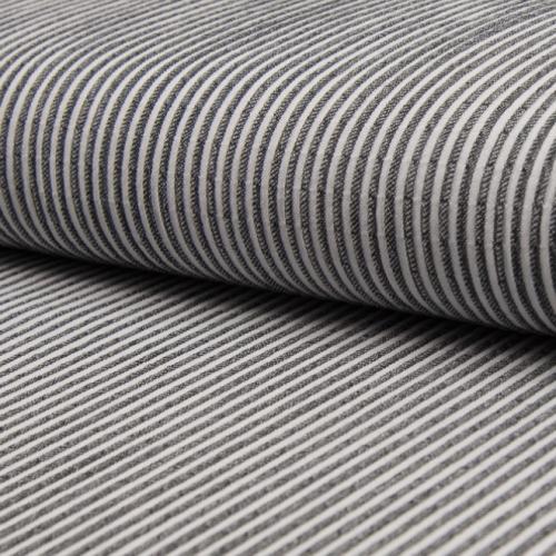 Tissu coton gaufré rayures noir