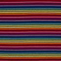 Tissu jersey coton rayures multicolores foncé