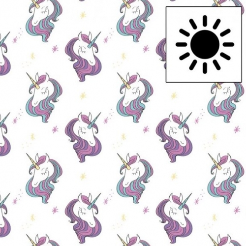 Tissu jersey magique imprimés licorne