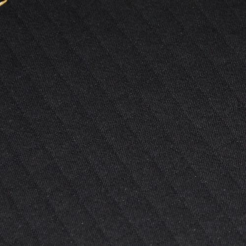 Tissu matelassé jersey coton écru