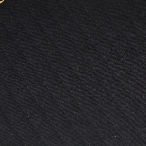 Tissu matelassé jersey coton noir