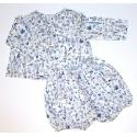 Ensemble blouse + bloomer Taille 12mois 74cm Liberty Theo