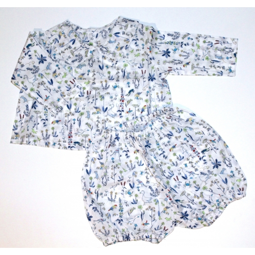 Ensemble blouse + bloomer Taille 3mois 60cm Liberty Theo