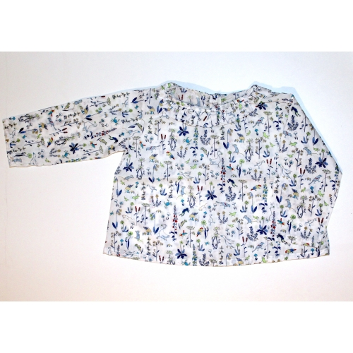 Blouse Taille 12mois 74cm Liberty Theo