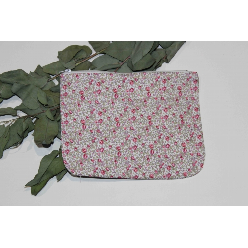 Trousse zippée en Liberty Eloise Rose