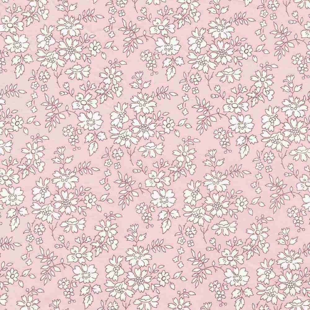 Liberty Capel S rose nude 3055S tissu Liberty fabrics au mètre à la coupe