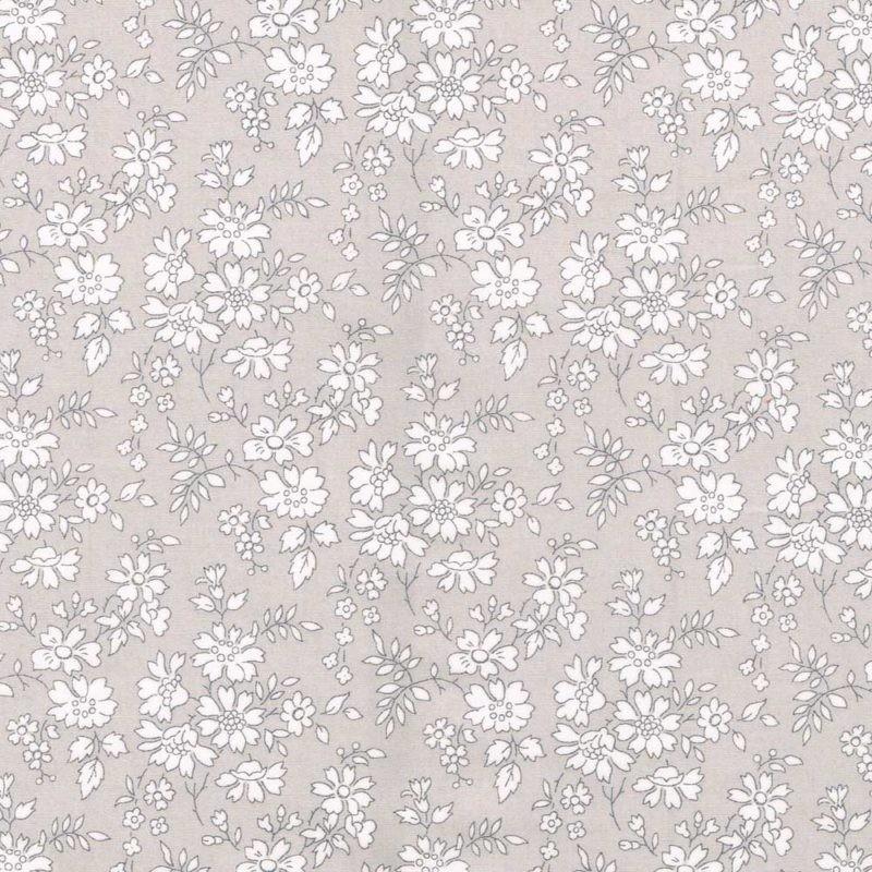 Liberty Capel K petit gris 3055K tissus unis fond gris à la coupe tana lawn