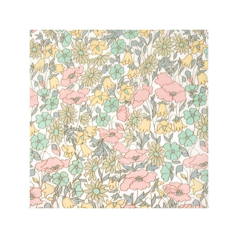 Liberty Poppy and Daisy pastel B 4095B tana lawn batiste coton à la coupe au metre fleurs