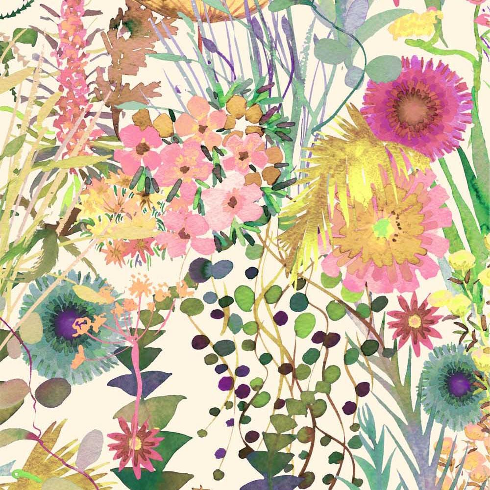 Tresco F fleurs verdoyantes Liberty fabrics tissus tana lwn à la coupe batiste coton au metre