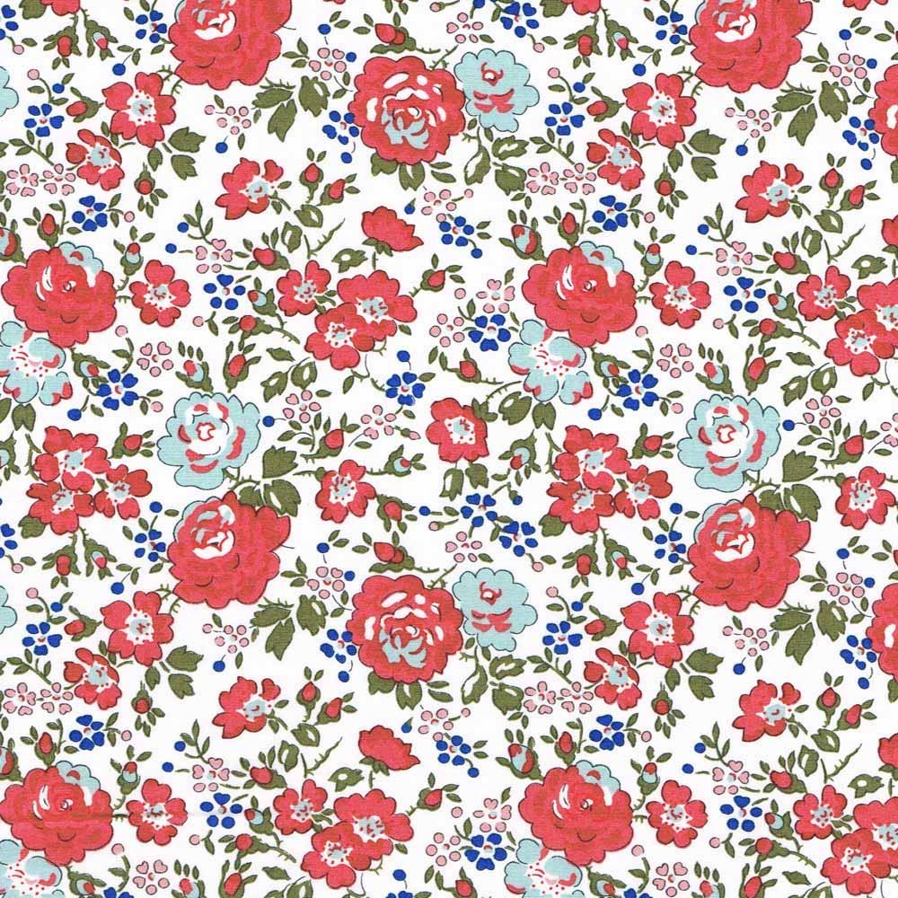 Liberty Felicite corail D Tissu liberty of london fabrics pas cher