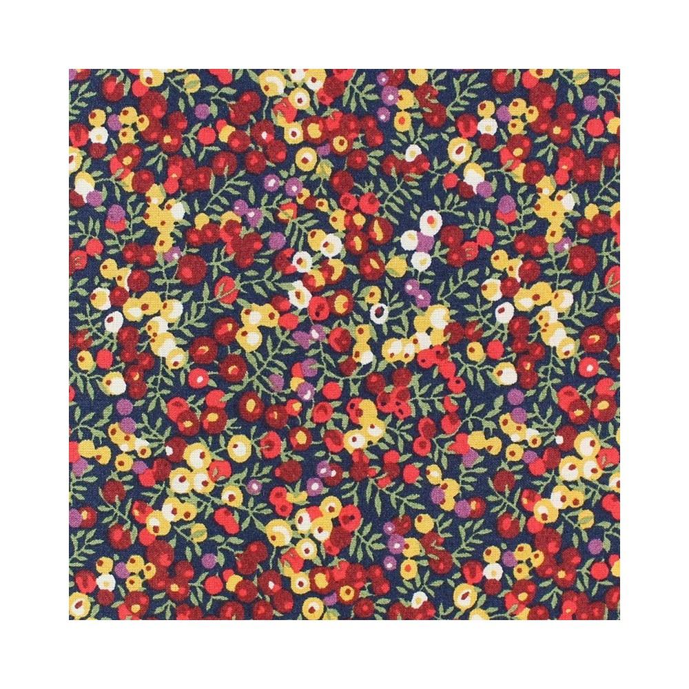 Liberty Wilmslow berry baies rouge jaune v Tissu liberty pas cher à la coupe au metre