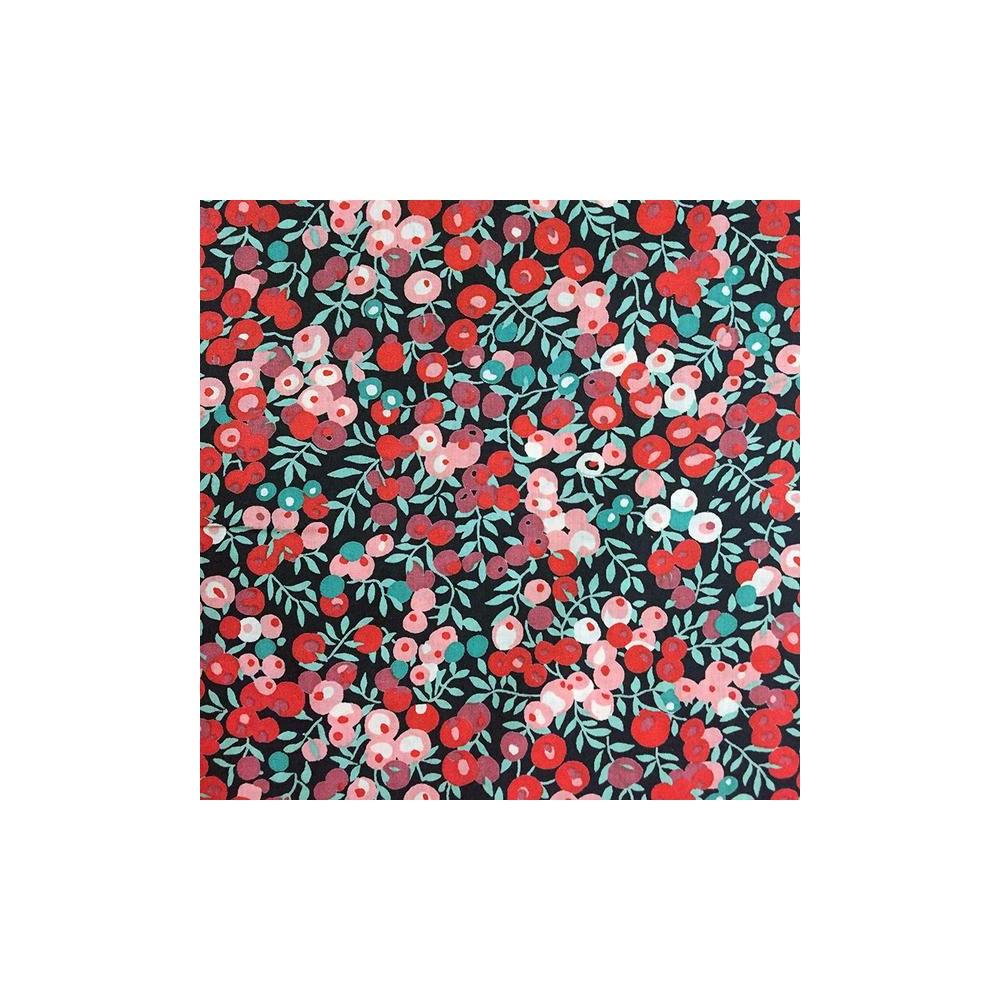 Liberty Wiltshire baies rouge corail J Tissu liberty pas cher à la coupe au metre