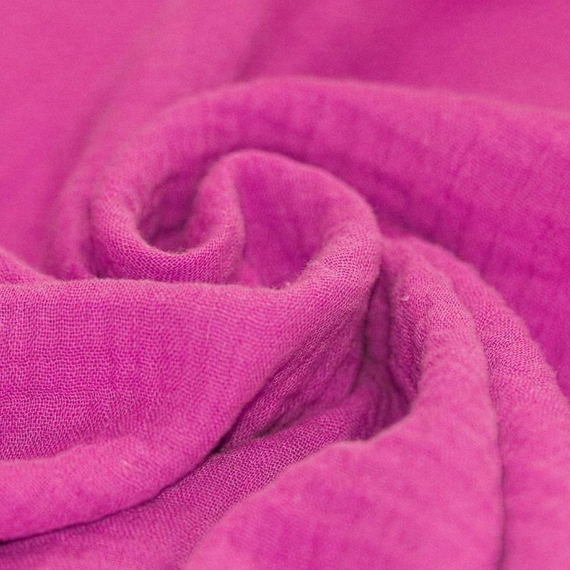 Tissus coton tissus uni Double gaze de coton rose fushia