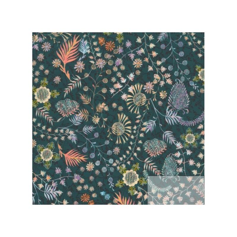 Tissu liberty fabrics tana lawn coton batiste fine hiver 2017 pere noel Liberty meadow crochet vert