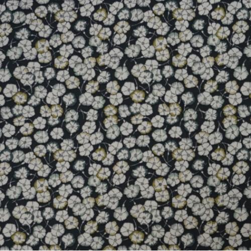 Tissu liberty fabrics tana lawn coton batiste fine Popeline en coton Liberty Leo Scarlet imprimé fleuri noir moutarde lichen