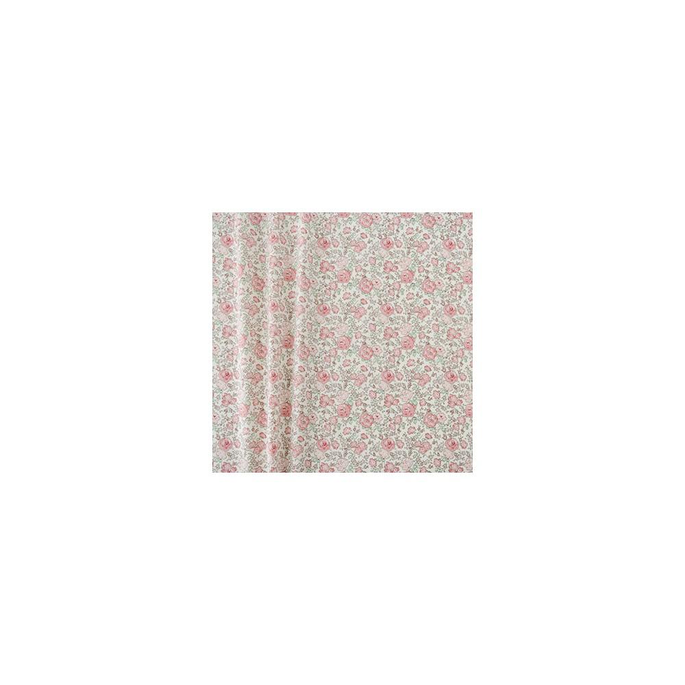 Liberty japonais Felicite roseraie: rose vert fleur rose Tissu liberty fabrics tana lawn coton batiste fine