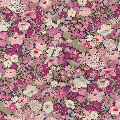 Tissu liberty fabrics tana lawn coton batiste fine Liberty Thorpe coloris B