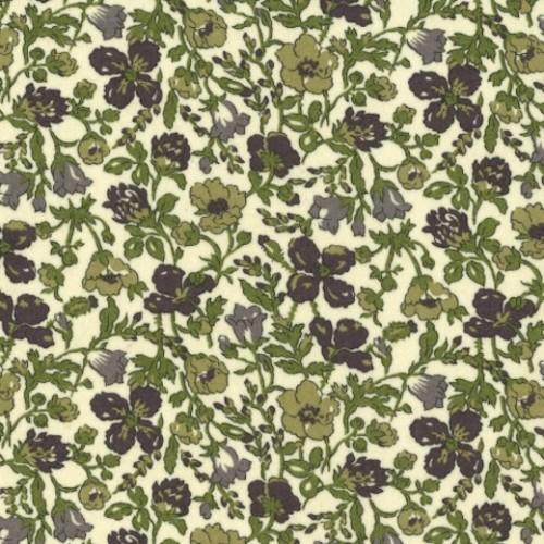 Tissu liberty fabrics tana lawn coton batiste fine Liberty meadow nuances de vert