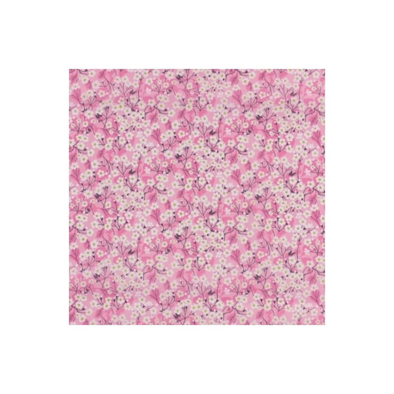 Tissu liberty fabrics tana lawn coton batiste fine Liberty mitsi valéria rose