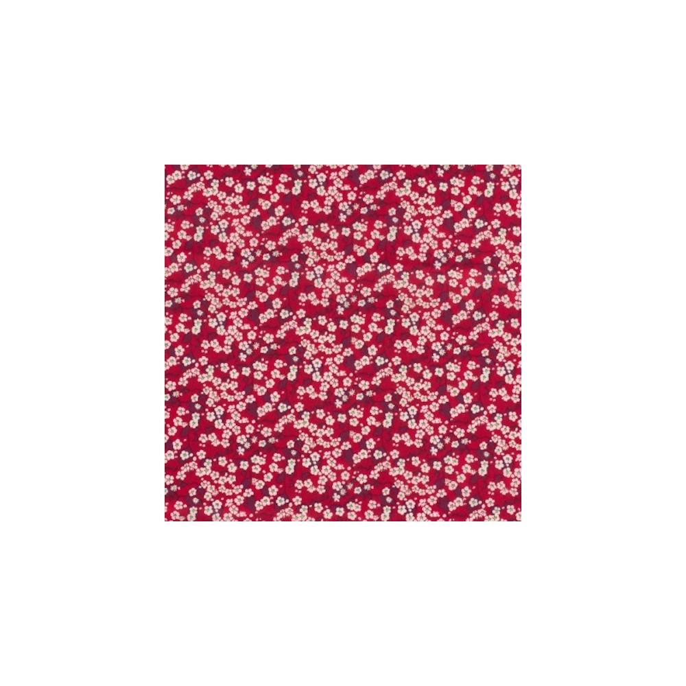 Tissu liberty fabrics tana lawn coton batiste fine Liberty mitsi valéria rouge