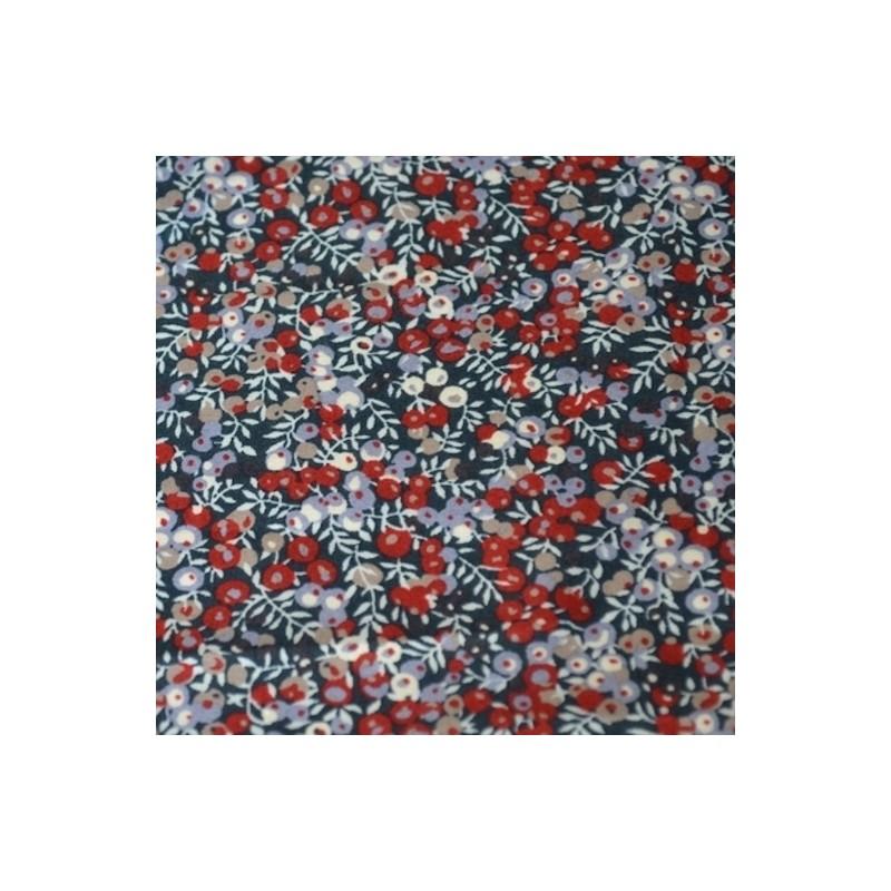 Liberty Wilmslow berry baies ardoise bordeaux taupe Tissu liberty pas cher à la coupe au metre