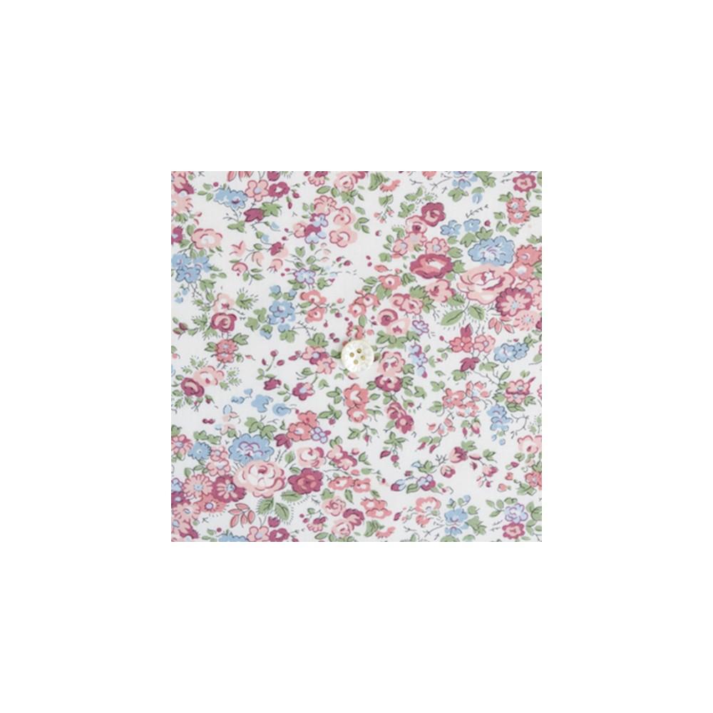 Tissu liberty fabrics tana lawn coton batiste fine Liberty tatum Japonais écru multicolore