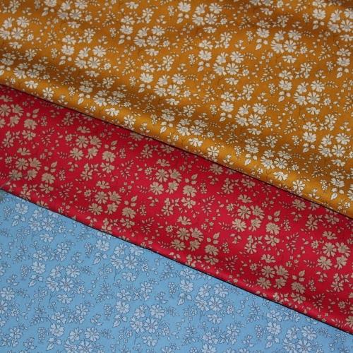 Tissu liberty fabrics tana lawn coton batiste fine Liberty Capel rouge F 3055f